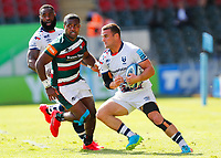 5th June 2021; Mattioli Woods Welford Road Stadium, Leicester, Midlands, England; Gallagher Premiership Rugby, Leicester Tigers versus Bristol Bears; Ben Earl of Bristol Bears beats Kini Murimurivalu of Leicester Tigers on a run