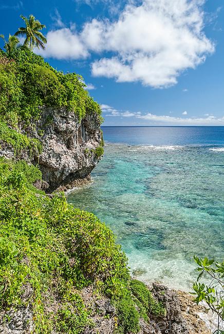 Utuko sea track and reef on the island on Niue