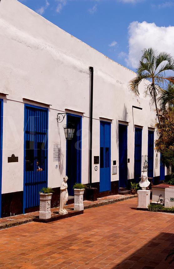 Museum of History of Guanabacoa Santeria Religion in Portrait of older man in park in Guanabacoa a town near Havana Cuba Habana