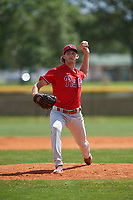 Philadelphia Phillies pitcher Ethan Lindow (19) during an exhibition game against the Canada Junior National Team on March 11, 2020 at Baseball City in St. Petersburg, Florida.  (Mike Janes/Four Seam Images)