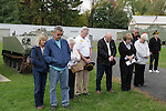 A Trooper Vern Ortenzi leads a prayer during the rededication ceremony of the 1st Squadron, 9th Cavalry monument at Motts Military Museum in Groveport, Ohio.