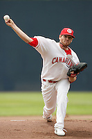 July 12 2009: Daniel Straily of the Vancouver Canadians during game against the Boise Hawks at Nat Bailey Stadium in Vancouver,BC..Photo by Larry Goren/Four Seam Images