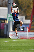 Chris Haigh of Concord Rangers FC warms up during Stevenage vs Concord Rangers , Emirates FA Cup Football at the Lamex Stadium on 7th November 2020
