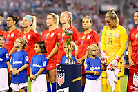 CHARLOTTE, NC - OCTOBER 3: 2019 FIFA Women's World Cup Trophy during a game between Korea Republic and USWNT at Bank of America Stadium on October 3, 2019 in Charlotte, North Carolina.
