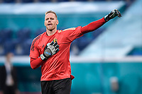 ST PETERSBURG, RUSSIA - JUNE 12 :  Matz Sels goalkeeper of Belgium pictured during warm-up while greeting the supporters  before the 16th UEFA Euro 2020 Championship Group B match between Belgium and Russia on June 12, 2021 in St Petersburg, Russia, 12/06/2021 <br /> Photo Photonews / Panoramic / Insidefoto <br /> ITALY ONLY