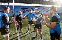 Photo: Richard Lane/Richard Lane Photography. Wasps Open Training Session at the Ricoh Arena ahead of their first game at the stadium. 16/12/2014. Wasps training.