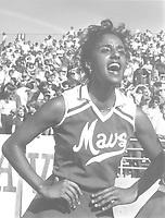 """University of Texas at Arlington """"Movin Mavs"""" cheerleader; not identified, 1982"""