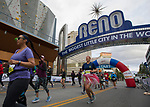 Competitors start the marathan portion of the Downtown River Run held in Reno, Nevada  on Sunday April 29, 2018.