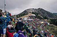fans waiting for the riders to storm up the infamous Monte Zoncolan (1735m/11%/10km)<br /> <br /> stage 14 San Vito al Tagliamento – Monte Zoncolan (186 km)<br /> 101th Giro d'Italia 2018