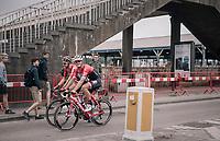 Good friends Jasper Stuyven (BEL/Trek-Segafredo) & Tim Wellens (BEL/Lotto-Soudal) rolling along together to warm up a bit before the start of the race<br /> <br /> 2017 National Championships Belgium - Elite Men - Road Race (NC)<br /> 1 Day Race: Antwerpen > Antwerpen (233km)