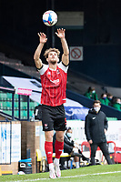 Charlie Raglan, Cheltenham Town from the throw in during Southend United vs Cheltenham Town, Sky Bet EFL League 2 Football at Roots Hall on 17th October 2020