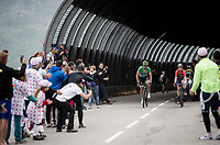 Green Jersey Peter Sagan (SVK/Bora-Hansgrohe) 2 km from the finish in Val thorens<br /> <br /> shortened stage 20: Albertville to Val Thorens (59km in stead of the original 130km due to landslides/bad weather)<br /> 106th Tour de France 2019 (2.UWT)<br /> <br /> ©kramon