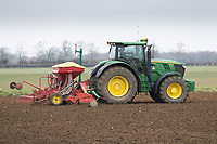 1-3-2021 Drilling Spring Barley in South Lincolnshire<br />  ©Tim Scrivener Photographer 07850 303986<br />      ....Covering Agriculture In The UK....