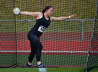 Elizabeth Hewitt competes in the elite women's discus. 2021 Capital Classic athletics at Newtown Park in Wellington, New Zealand on Saturday, 20 February 2021. Photo: Dave Lintott / lintottphoto.co.nz