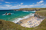 United Kingdom, England, Cornwall, Near Newquay: cliffs at Cornwall's north coast | Grossbritannien, England, Cornwall, bei Newquay: Klippen an Cornwalls Nordkueste