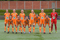 team of Gent with  Silke Vanwynsberghe (21) of AA Gent   Ella Van Kerkhoven (3) of AA Gent   Lore Jacobs (17) of AA Gent   Heleen Jaques (4) of AA Gent   Lobke Loonen (19) of AA Gent  goalkeeper Nicky Evrard (1) of AA Gent   Jasmien Mathys (12) of AA Gent   Emma Van Britsom (6) of AA Gent   Lyndsey Van Belle (14) of AA Gent   Heleen Jaques (4) of AA Gent   Chloe Vande Velde (10) of AA Gent   pictured during a female soccer game between RSC Anderlecht Dames and AA Gent Ladies on the fifth matchday of play off 1 of the 2020 - 2021 season of Belgian Womens Super League , saturday 8 th of May 2021  in Brussels , Belgium . PHOTO SPORTPIX.BE | SPP | STIJN AUDOOREN