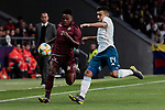 Argentina's Lisandro Martinez and Venezuela's Jhon Murillo during International Adidas Cup match between Argentina and Venezuela at Wanda Metropolitano Stadium in Madrid, Spain. March 22, 2019. (ALTERPHOTOS/A. Perez Meca)