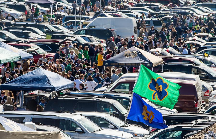 Oct 11, 2014; Tailgaters before the North Carolina game. (Photo by Matt Cashore)