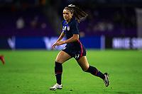 ORLANDO CITY, FL - FEBRUARY 24: Sophia Smith #17 of the USWNT runs toward for the ball during a game between Argentina and USWNT at Exploria Stadium on February 24, 2021 in Orlando City, Florida.