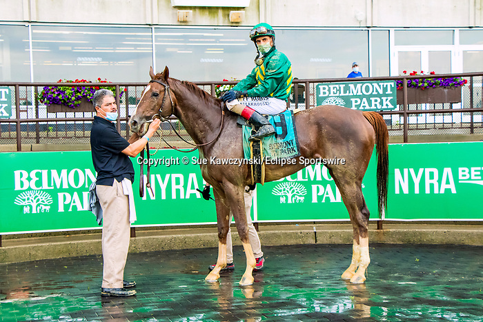 JUNE 06, 2020 : Code of Honor with John Velazquez aboard, wins the Grade 3 Westchester Stakes, going 1 1/16, at Belmont Park, Elmont, NY.  Sue Kawczynski/Eclipse Sportswire/CSM