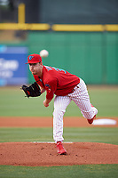 Clearwater Threshers starting pitcher Cole Irvin (35) delivers a pitch during a game against the Palm Beach Cardinals on April 14, 2017 at Spectrum Field in Clearwater, Florida.  Clearwater defeated Palm Beach 6-2.  (Mike Janes/Four Seam Images)