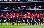 Players of Atletico de Madrid line up and pose for photos prior to the UEFA Europa League 2017-18 Round of 32 (2nd leg) match between Atletico de Madrid and FC Copenhague at Wanda Metropolitano  on February 22 2018 in Madrid, Spain. Photo by Diego Souto / Power Sport Images