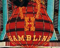 Neon casino sign, Las Vegas, Nevada, US