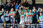 Eoin Doody Na Gaeillifts the cup  after defeating Mullinahone in the Munster Junior Championship final on Sunday