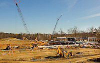 University Package - Construction site of the football stadium at UNC Charlotte campus...Photo by: PatrickSchneiderPhoto.com