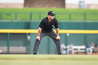 Field umpire Bryan Fields during an Arizona Fall League game between the Peoria Javelinas and the Mesa Solar Sox at Sloan Park on October 11, 2018 in Mesa, Arizona. Mesa defeated Peoria 10-9. (Zachary Lucy/Four Seam Images)