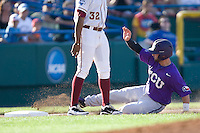 TCU's Rivera, Brance 2296.jpg against Florida State at the College World Series on June 23rd, 2010 at Rosenblatt Stadium in Omaha, Nebraska.  (Photo by Andrew Woolley / Four Seam Images)