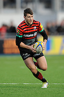 20130216 Copyright onEdition 2013©.Free for editorial use image, please credit: onEdition..Richard Wigglesworth of Saracens in action during the Premiership Rugby match between Saracens and Exeter Chiefs at Allianz Park on Saturday 16th February 2013 (Photo by Rob Munro)..For press contacts contact: Sam Feasey at brandRapport on M: +44 (0)7717 757114 E: SFeasey@brand-rapport.com..If you require a higher resolution image or you have any other onEdition photographic enquiries, please contact onEdition on 0845 900 2 900 or email info@onEdition.com.This image is copyright onEdition 2013©..This image has been supplied by onEdition and must be credited onEdition. The author is asserting his full Moral rights in relation to the publication of this image. Rights for onward transmission of any image or file is not granted or implied. Changing or deleting Copyright information is illegal as specified in the Copyright, Design and Patents Act 1988. If you are in any way unsure of your right to publish this image please contact onEdition on 0845 900 2 900 or email info@onEdition.com