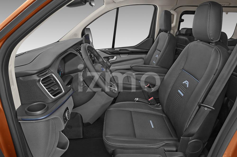 Front seat view of 2021 Ford Tourneo-Custom Active 5 Door Passenger Van Front Seat  car photos