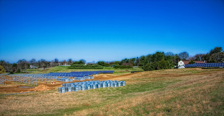 Longwood Gardens - Delaware County - panels waiting to be installed