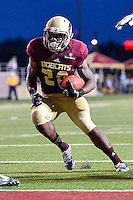 Texas State running back Robert Lowe (28) rushes in for a touch down during second half of NCAA Football game, Saturday, August 30, 2014 in San Marcos, Tex. Texas State defeated Arkansas Pine-Bluff 65-0 to win the season opener. (Mo Khursheed/TFV Media via AP Images)