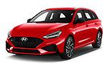2020 Hyundai i30 Sky-Line 5 Door Wagon Angular Front automotive stock photos of front three quarter view