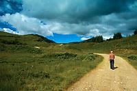 Walking through Glen Cononish near Tyndrum, Loch Lomond and the Trossachs National Park