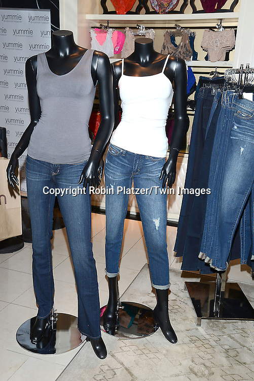 models and Heather Thomson Introduces her new denim and acitve collections called Yummie  by Heather Thomson at Bloomingdales in New York City on September 11, 2014.<br /> <br /> photo by Robin Platzer/Twin Images<br />  <br /> phone number 212-935-0770