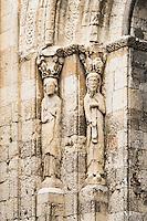 Exterior saint figures, Church of San Martin, Segovia, Spain