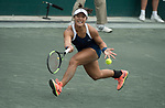 April 4,2018:   Kristie Ahn (USA) loses to Julia Goerges (GER) 2-6, 6-4, 7-6, at the Volvo Car Open being played at Family Circle Tennis Center in Charleston, South Carolina.  ©Leslie Billman/Tennisclix/Cal Sport Media/CSM