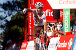Clément Champoussin (FRA) AG2R-Citroën Team wins Stage 20 of La Vuelta d'Espana 2021, running 202.2km from Sanxenxo to Mos, Spain. 4th September 2021.    <br /> Picture: Luis Angel Gomez/Photogomezsport | Cyclefile<br /> <br /> All photos usage must carry mandatory copyright credit (© Cyclefile | Luis Angel Gomez/Photogomezsport)