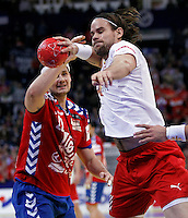 Thomas M. Mogensen during men`s EHF EURO 2012 handball championship final game between Serbia and Denmark in Belgrade, Serbia, Sunday, January 29, 2011.  (photo: Pedja Milosavljevic / thepedja@gmail.com / +381641260959)