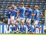 22.05.2021 Scottish Cup Final, St Johnstone v Hibs: St Johnstone celebrate Shaun Rooney's goal