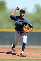 Seattle Mariners pitcher Edwin Diaz (36) during an instructional league game against the Kansas City Royals on October 2, 2013 at Surprise Stadium Training Complex in Surprise, Arizona.  (Mike Janes/Four Seam Images)