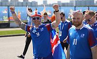Glückliche Fans aus Island - 16.06.2018: Argentinien vs. Island, Spartak Stadium Moskau