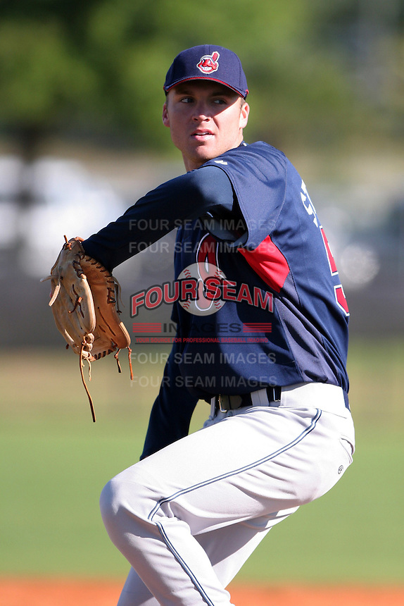 Cleveland Indians minor leaguer Jeff Stevens during Spring Training at the Chain of Lakes Complex on March 17, 2007 in Winter Haven, Florida.  (Mike Janes/Four Seam Images)