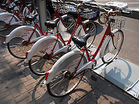 Leihfahrräder in Peking, China, Asien<br /> hire bikes, Beijing, China, Asia