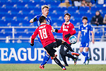 Muangthong Midfielder Chanathip Songkrasin (R) in action against  Ulsan Hyundai Forward Lee Jongho (L) the AFC Champions League 2017 Group E match between  Ulsan Hyundai FC (KOR) vs Muangthong United (THA) at the Ulsan Munsu Football Stadium on 14 March 2017 in Ulsan, South Korea. Photo by Chung Yan Man / Power Sport Images