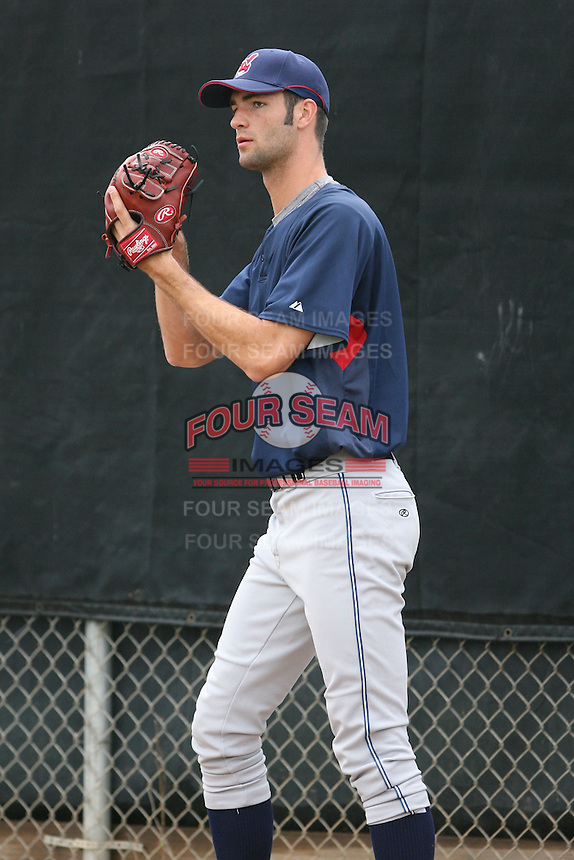 March 20th 2008:  Brad Hinkle of the Cleveland Indians minor league system during Spring Training at Chain of Lakes Training Complex in Winter Haven, FL.  Photo by:  Mike Janes/Four Seam Images