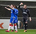 26.02.2020 SC Braga v Rangers: Allan McGregor and Borna Barisic